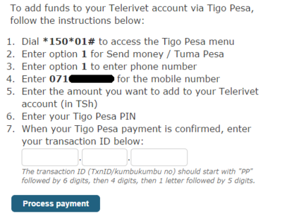 Tigo-pesa-payments